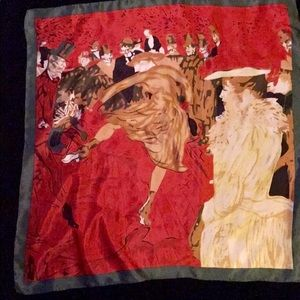 """Accessories - """"Moulin Rouge, The Dance"""" Classic 100% Silk Scarf"""
